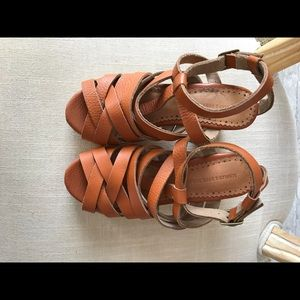 Anthropology Schuler & Sons brown leather sandals